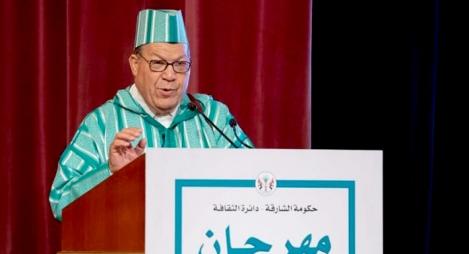 تكريم الشاعر المغربي إسماعيل زويريق خلال مهرجان الشارقة للشعر
