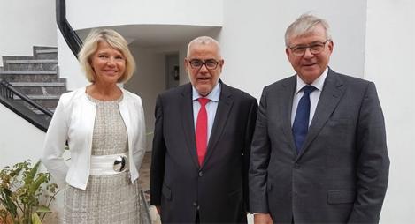 سفيرة هولندا وسفير النرويج في زيارة ود لإبن كيران