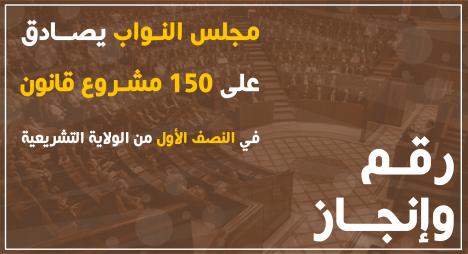 مجلس النواب يصادق على 150 مشروع قانون في النصف الأول من الولاية التشريعية