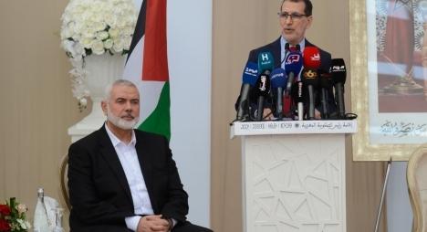 """العثماني مخاطبا هنية: أؤكد لكم دعم حزب """"المصباح"""" الدائم للشعب الفلسطيني ولمقاومته"""
