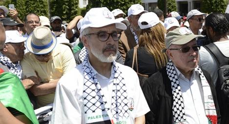 شيخي: مسيرة فلسطين تعبير عن رفض المغاربة لصفقة القرن