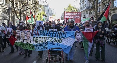 الأرجنتين.. مسيرة داعمة للأسرى الفلسطينيين ومناهضة للاحتلال الإسرائيلي