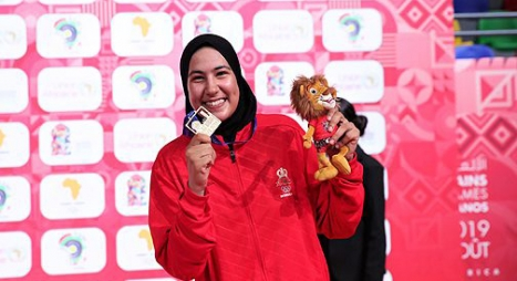 الألعاب الافريقية..البطلة المغربية أبو فارس تحرز ذهبية في رياضة التايكوندو