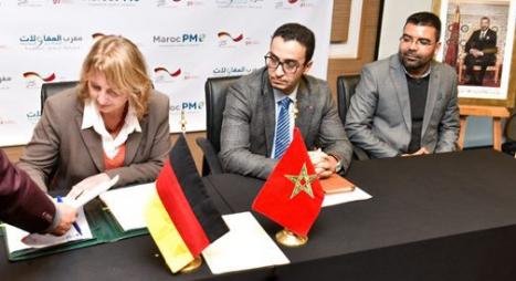 """توقيع 19 اتفاقية بين المؤسسة الألمانية للتعاون وجمعيات """"المبادرة المقاولاتية"""""""
