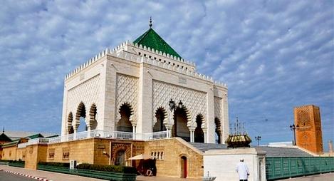 """أمانة """"المصباح"""" تزور ضريح محمد الخامس للترحم على جلالة المغفور له الملك الحسن الثاني"""