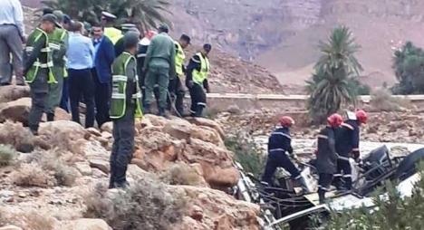 """ارتفاع حصيلة ضحايا حادث انقلاب """"حافلة الرشيدية"""" إلى 29 قتيلا"""