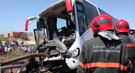 إصابة 30 شخصا في انقلاب حافلة لنقل الركاب بإقليم آسفي