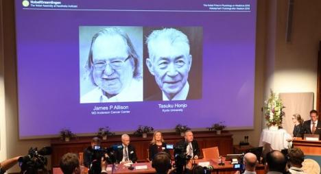 الإعلان عن الفائزين بجائزة نوبل للطب لسنة 2018