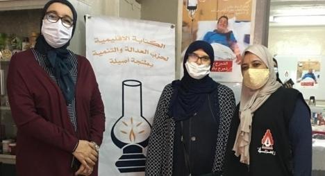"""نساء طنجة أصيلة ينخرطن في حملة التبرع بالدم تفاعلا مع الحملة الوطنية لـ""""المصباح"""""""