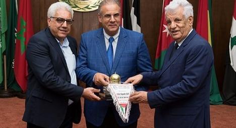 حفل استقبال بمقر وكالة بيت مال القدس الشريف على شرف نادي هلال القدس