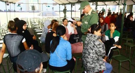 التحاق الفوج الأول من المدعوين للخدمة العسكرية بمقر قيادة المنطقة الجنوبية للقوات المسلحة بأكادير