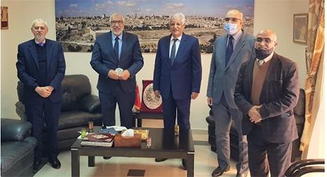 """يوم الأرض..""""لجنة فلسطين"""" تزور السفير الفلسطيني وتستقبل هيئة إعمار فلسطين"""