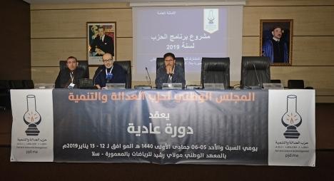 التئام اللجان الدائمة للمجلس الوطني لحزب العدالة والتنمية