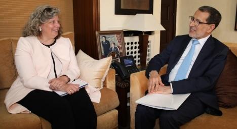 رئيس الحكومة يجري مباحثات مع القائمة بالأعمال بسفارة الولايات المتحدة الأمريكية بالرباط