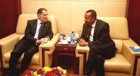العثماني يبحث مع نظيره الإثيوبي تطوير العلاقات بين البلدين