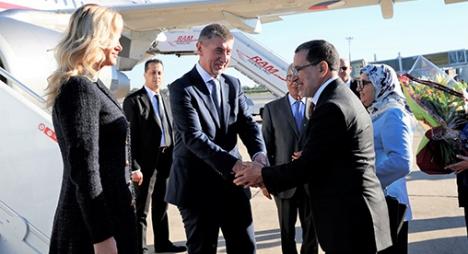 الوزير الأول التشيكي يبدأ زيارة رسمية للمغرب
