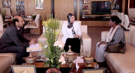 الوفي وممثلة الأمم المتحدة للتنمية الصناعية تتباحثان سبل تعزيز التعاون المشترك