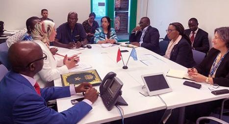 الوفي تتباحث بنيويورك مع الأمين التنفيذي للجنة الأمم المتحدة الاقتصادية لإفريقيا