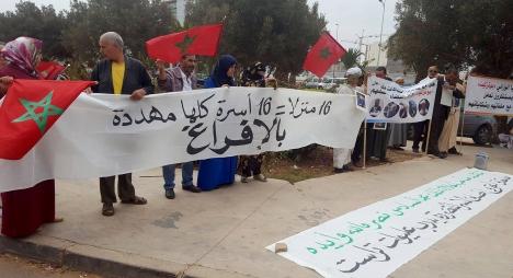 """ضحايا """"مافيا العقار"""" بسوس يحتجون أمام محكمة الاستئناف بأكادير"""