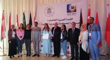 """طالبة مغربية تتوج بجائزة """"أحسن مترافع"""" في مسابقة بلبنان"""