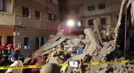 الدار البيضاء.. مصرع شخص في حادث انهيار مبنى من ثلاثة طوابق