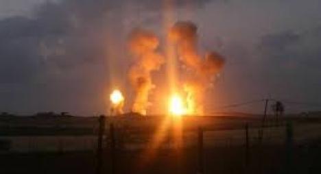 """طائرات الاحتلال تقصف موقعا عسكريا لـ""""حماس"""" شمال غزة"""