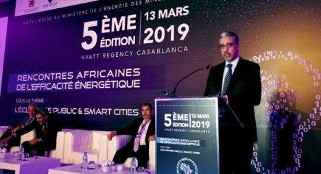 رباح يدعو لإعادة النظر في أنظمة الإنارة العمومية بالمدن المغربية