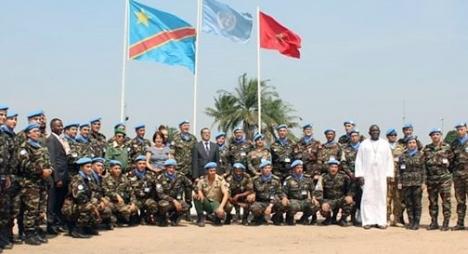 توشيح التجريدة المغربية في الكونغو الديمقراطية نظير الخدمات الجليلة التي تقدمها