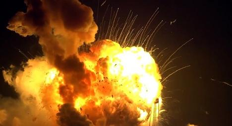 صاروخ فضائي ينفجر بعد ثوان من انطلاقه من منصة اطلاق بولاية فيرجينيا الأمريكية