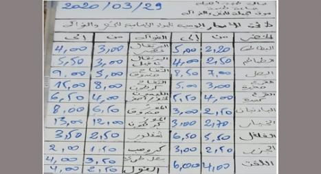 جماعة طنجة تنشر أسعار المواد الأساسية من الخضر والفواكه بسوق الجملة