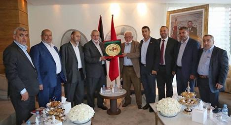 بالصور.. هنية يستقبل عددا من الفعاليات المدنية المغربية الداعمة لفلسطين