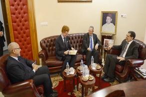 العثماني يستقبل سفيرالمملكة البلجيكية بالمقر...