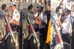 "إيقاف ضابط أمن ممتاز أهان سائق ""تريبورتور..."